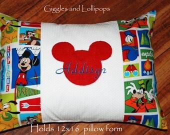 Disney Cruise autograph pillow pillowcase Mickey Minnie Mouse