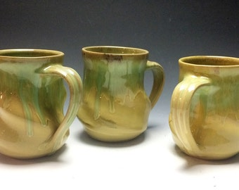 Sunshine Yellow and Green Swirly Mug