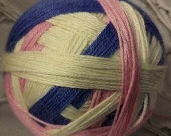 Preppy prom queen self striping sock yarn