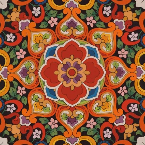 Hibiscus Textile on mono deluxe Needlepoint Canvas
