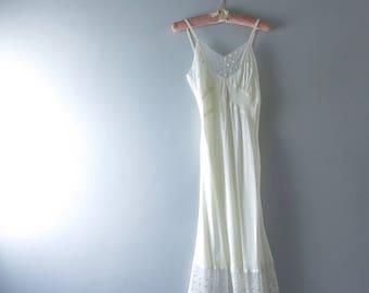 1940s Miss New Yorker Ivory Bridal Slip Size S Deadstock