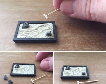 1/12th scale miniature zen garden