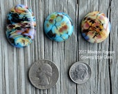 Dusk ....  glass cabochons ... artsy, handmade glass designer cabochons by Mikelene Growing Edge Glass