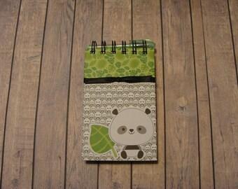 Panda Bear Notebook With Ribbon