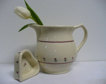 Hartstone Pottery Tulip Pitcher and Small Dish