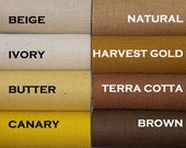 Natural Burlap Fabric By the Yard - 58 - 60 inches wide