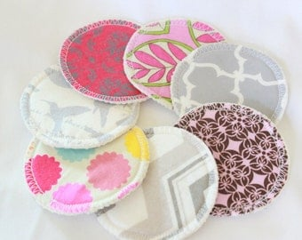 Custom, Organic Cotton Hemp Fleece, cotton print topped, cloth,  makeup remover pads, 3 inch,make up cleansing pads,facial rounds