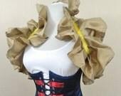 BLACK FRIDAY SALE Gold Gilt Patterned Tie On Shrug