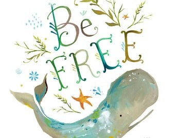 Be Free - various sizes - STRETCHED CANVAS - Katie Daisy art