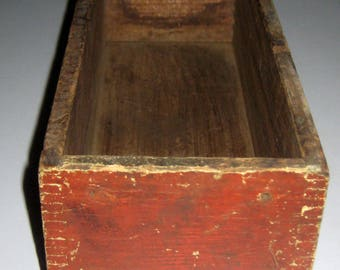 Vintage Drawer for Repurposing - Chippy Red Painted Front