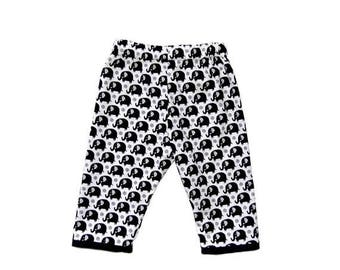 ON SALE 40% OFF Elephant Clothes - Black And White - Black Pants - Zoo Animal Prints - Animal Clothes - Toddler Pants - Boy Pants - Girl Pan