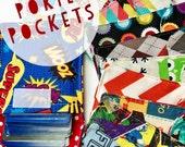 2 POKIE POCKETS - The Original Trading Card Pouches - Pick 2 Prints