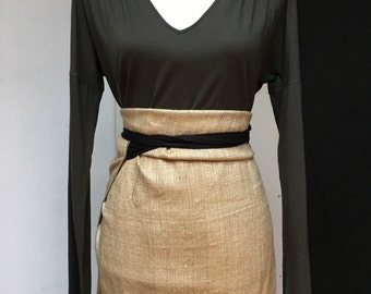 silk wrap skirt floor length wild silk animal friendly
