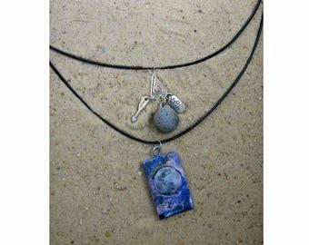 Full Moon Aromatheray Necklace Double Strand