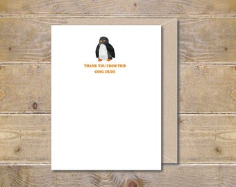 Penguin Baby Thank You Cards, Baby Shower Thank You Cards, Baby Shower Thank You Note, Thank You Cards Baby, Sea Creatures, New Baby