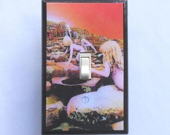 Selection of Led Zeppelin switch plate covers w/ MATCHING SCREWS- Led Zeppelin album Led Zeppelin poster Houses of the Holy The Hermit album