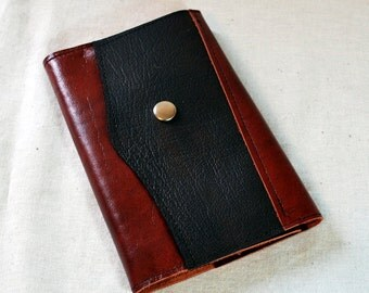 2017 Refillable Rusted Red and Dark Brown Leather Planner