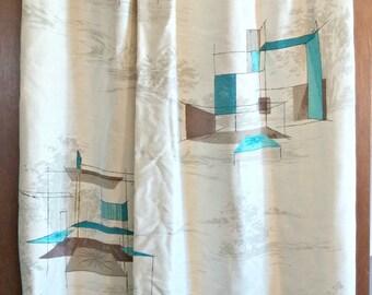 Mid-Century Curtain Panel