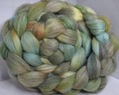Polwarth/Rambouillet/Bombyx/Angeline 25/25/25/25 Roving Combed Top - 5oz - Lichen 3