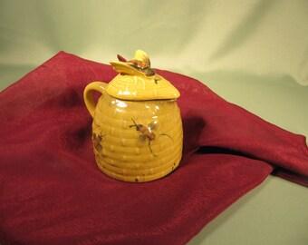 ANIQUE HONEY JAR Includes Fermented HoneyAntique Ceramic Honey Jar With Cork And