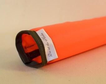 Safety Top Tube Bicycle Frame Pad - Bright Orange