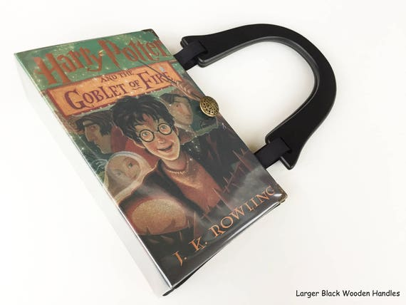 Harry Potter and The Goblet of Fire Book Purse - Book Lover Gift - Harry Potter Collector Gift - Book Cover Handbag