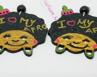 Hand Painted  AFRO Pick Chic