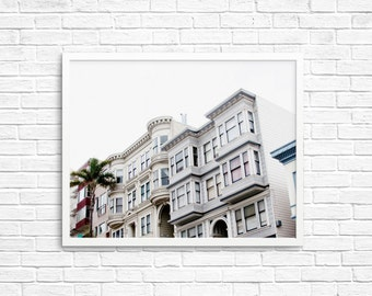 BUY 2 GET 1 FREE San Francisco Wall Art, San Francisco Print, Landscape Art, Fine Art Print, Wall Decor, Pastel Decor, House Print, Pink
