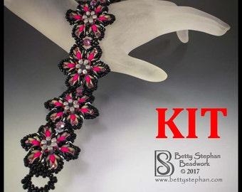 kit- Starburst Bracelet- pink- Beadwoven bracelet kit