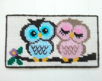 Owl Wall Hanging - Plastic Canvas Owl - Owl Wall Art - Owl Wall Decor - Owl Decor - Owl Gifts - Ready To Ship