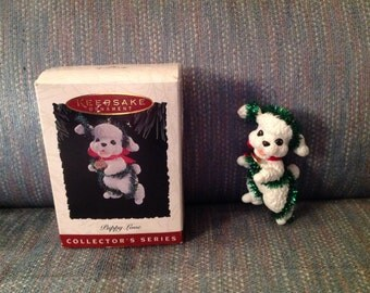 1994--Hallmark--Puppy Love--POODLE--Ornament--Keepsake--Collector's Series