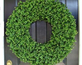 CHRISTMAS WREATH SALE Outdoor Door Wreath All Seasons Artificial Boxwood Wreath, Xxl Front Door Decor