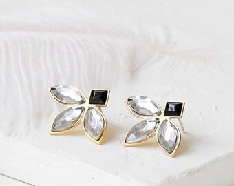Small Caldera Earrings, Bridal Earrings, Swarovski Earrings, Wedding post Earrings, Christal Earrings