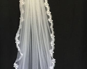 First Communion Veil -- READY to SHIP