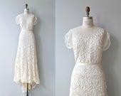 Lysithea wedding gown   vintage 1930s wedding dress   30s wedding dress