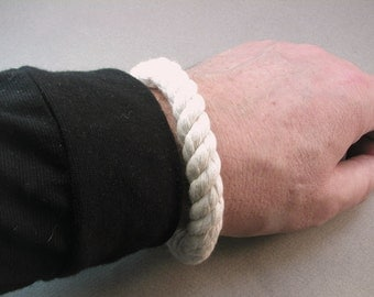 white cotton donut rope bracelets with white whipping grommet bracelets rope jewelry soft bangle beach fashion 4078