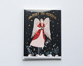Peace on Earth Angel Card - Pack of 4