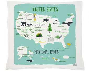 National Parks Tea Towel