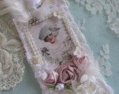 Victorian Lace Gift Tag, Bridal  Gift Tag, Ivory Tag, Bridesmaid Gift,  Wedding Lace Tag