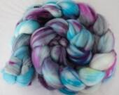 Blueberry Squirt - Superwash Merino Wool Roving 4oz