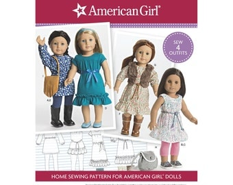 DOLL CLOTHES PATTERN / American Girl Designs for Dolls / Tunics - Dresses - Leggings - Purses