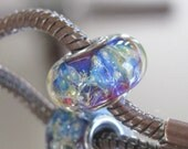 "Tangled Sky Glass ""Nebula"" #1 Fully Sterling Silver Lined Lampwork Charm Bead BHB"