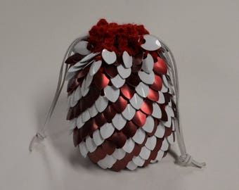 Scalemail Dice Bag of Holding Red and White Stripe Candy Cane