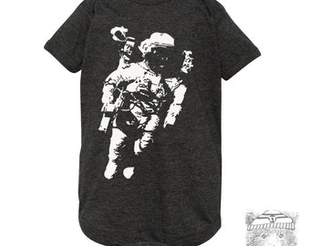 Baby One-Piece SPACE Astronaut Eco screen printed (+ Color Options) - FREE Shipping