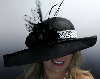 Handmade Couture Millinery Hat- Ebony