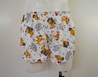 Vintage GARFIELD CHRISTMAS UNDERWEAR Boxer Shorts size 38 1980's usa made xmas