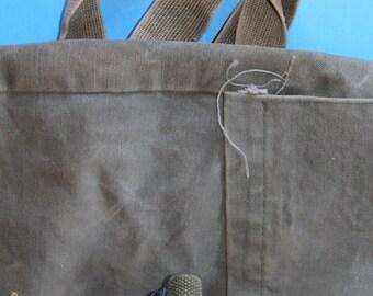 Vintage Military Canvas Backpack.  WW2 Era