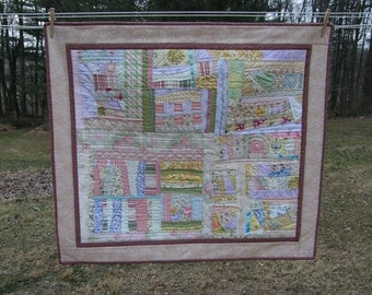 Art Quilt Wallhanging in Pastels