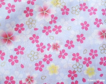 Japanese Kimono Fabric - Sakura Cherry Blossoms on Light Purple - Fat Quarter (na161212)