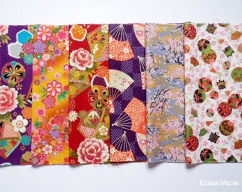 Scrap / Japanese Fabric - Kimono Print 6 pieces (887)
